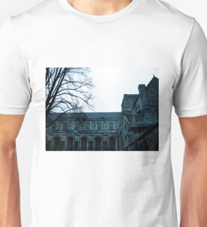 England Winter, Winchester, Cathedral Unisex T-Shirt