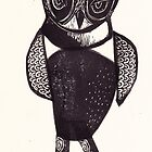 Sassy Owl funky folk art style bird with attitude by craftyhag