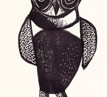 Sassy Owl funky folk art style bird with attitude by craftyhag