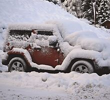 Snow Covered Car by Duckeh3
