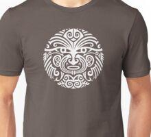 Maori tattoo face - white Unisex T-Shirt