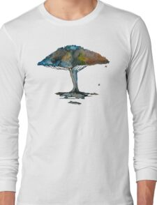 Colored tree in a tranquil breeze Long Sleeve T-Shirt