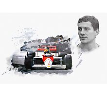 Ayrton Senna Genius Photographic Print