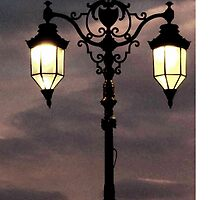 Seafront lamposts by littlebearwolf