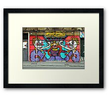 All About Italy. Piece 1 - Genoa Street Art Framed Print