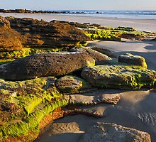 Beach Rocks at Daybreak by Kenneth Keifer