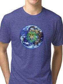 Earth Flower - 19 Year Cycle Tri-blend T-Shirt