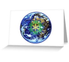 Earth Flower - 19 Year Cycle Greeting Card