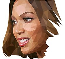 Beyonce Triangulation Vector Photographic Print