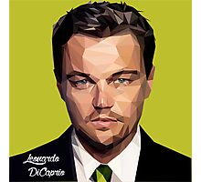 Leonardo DiCaprio Triangulation Vector Photographic Print