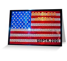 9/11 Stained Glass Greeting Card