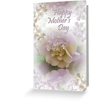 Romantic Camellia flower Mother's day text card Greeting Card