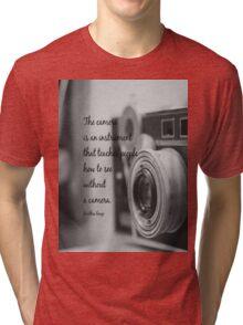 Dorothea Lange Camera Tri-blend T-Shirt