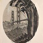 GOLDEN GATE BRIDGE AT SUNRISE-PARTEE 1977 #4/50 by JAYMILO
