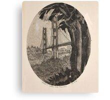 GOLDEN GATE BRIDGE AT SUNRISE-PARTEE 1977 #4/50 Canvas Print