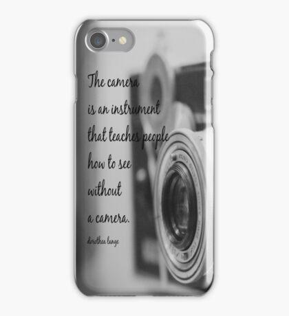 Dorothea Lange Camera iPhone Case/Skin