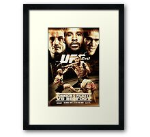 Fantasy Fight Poster Framed Print