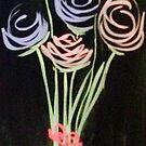 Fleeting Flowers - Chalkboard Art by Pixie-Atelier