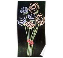 Fleeting Flowers - Chalkboard Art Poster