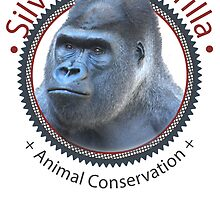 Silverback Gorilla Animal Conservation by Carol Vega