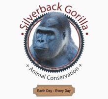 Silverback Gorilla Animal Conservation Kids Tee