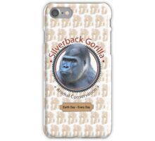 Silverback Gorilla Animal Conservation iPhone Case/Skin