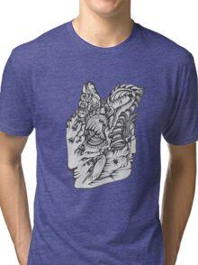 Hand Drawn Spiritual Warrior Tees Tri-blend T-Shirt