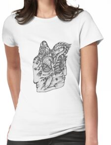 Hand Drawn Spiritual Warrior Tees Womens Fitted T-Shirt