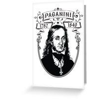 Paganini Greeting Card