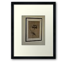 WHO IS THAT MASKED ANIMAL Framed Print