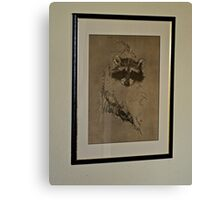 WHO IS THAT MASKED ANIMAL Canvas Print