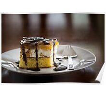 Peach-cheese cake Poster