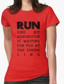 RUN - Kit Harington Womens Fitted T-Shirt