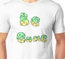 Be Gone, Green and Yellow Unisex T-Shirt
