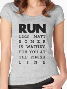 RUN - Matt Bomer Women's Fitted Scoop T-Shirt
