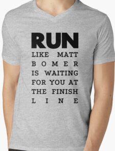 RUN - Matt Bomer Mens V-Neck T-Shirt