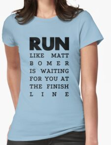 RUN - Matt Bomer Womens Fitted T-Shirt
