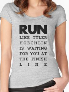 RUN - Tyler Hoechlin Women's Fitted Scoop T-Shirt