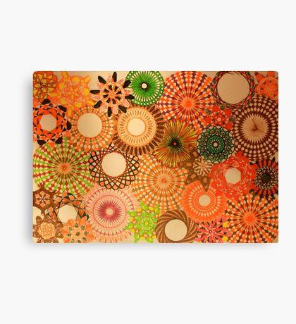 Autumn Coloured Spirograph Design Canvas Print