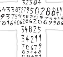 The value of PI compels you - card Sticker