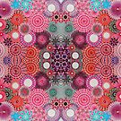 Mirrored Pink Spirograph Artwork by RachelEDesigns