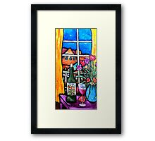 Colosi wine with flowers Framed Print