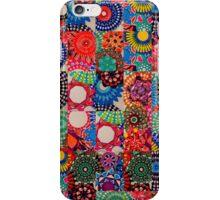 Tiled Dark Multicoloured Spirograph Design iPhone Case/Skin
