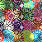 Light Patches on Spirograph Pattern by RachelEDesigns