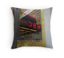 NBC NYC Reflection  IMG_0254 Throw Pillow