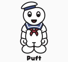 Stay Puft marshmallow man cartoon by JamesShannon