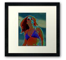 Divine Feminine in a Blue Bikini Framed Print