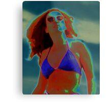 Divine Feminine in a Blue Bikini Metal Print