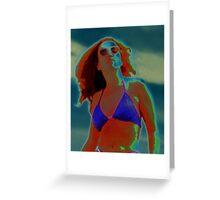 Divine Feminine in a Blue Bikini Greeting Card