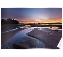 Woodbridge Foreshore at Sunrise, Tasmania Poster